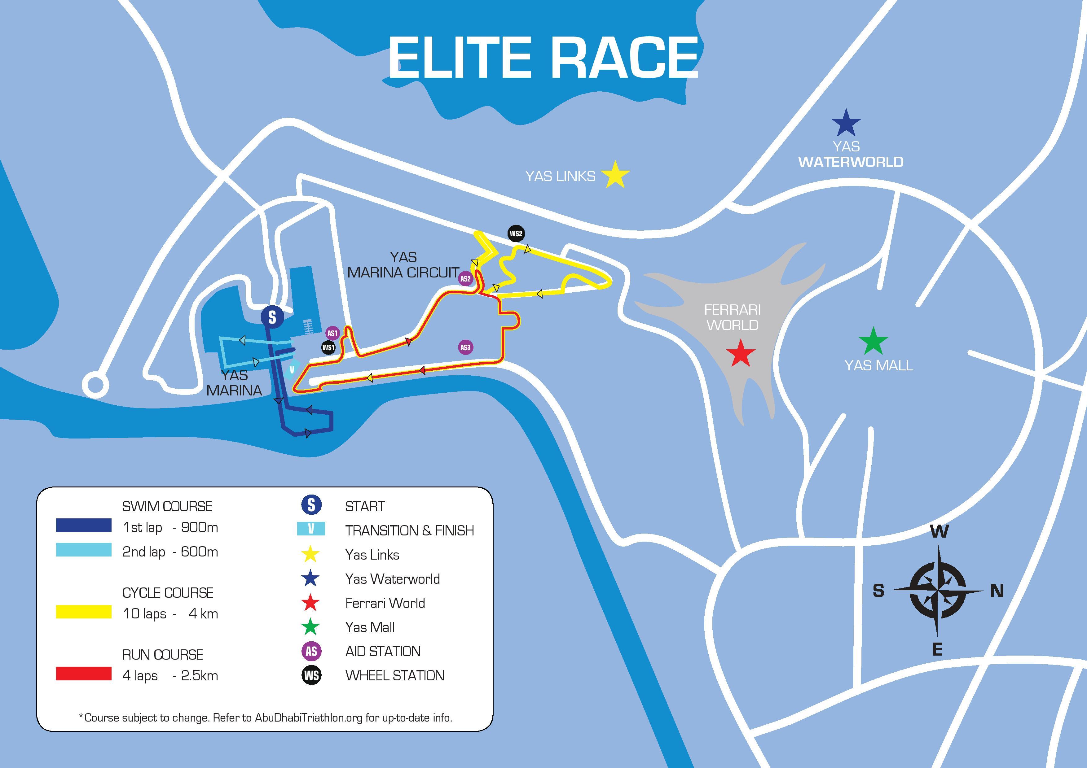 Elite Course Daman World Triathlon Abu Dhabi 2019