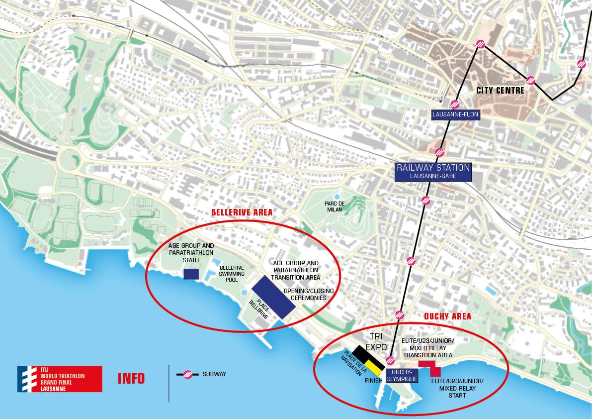 Venue map | 2019 ITU World Triathlon Grand Final Lausanne
