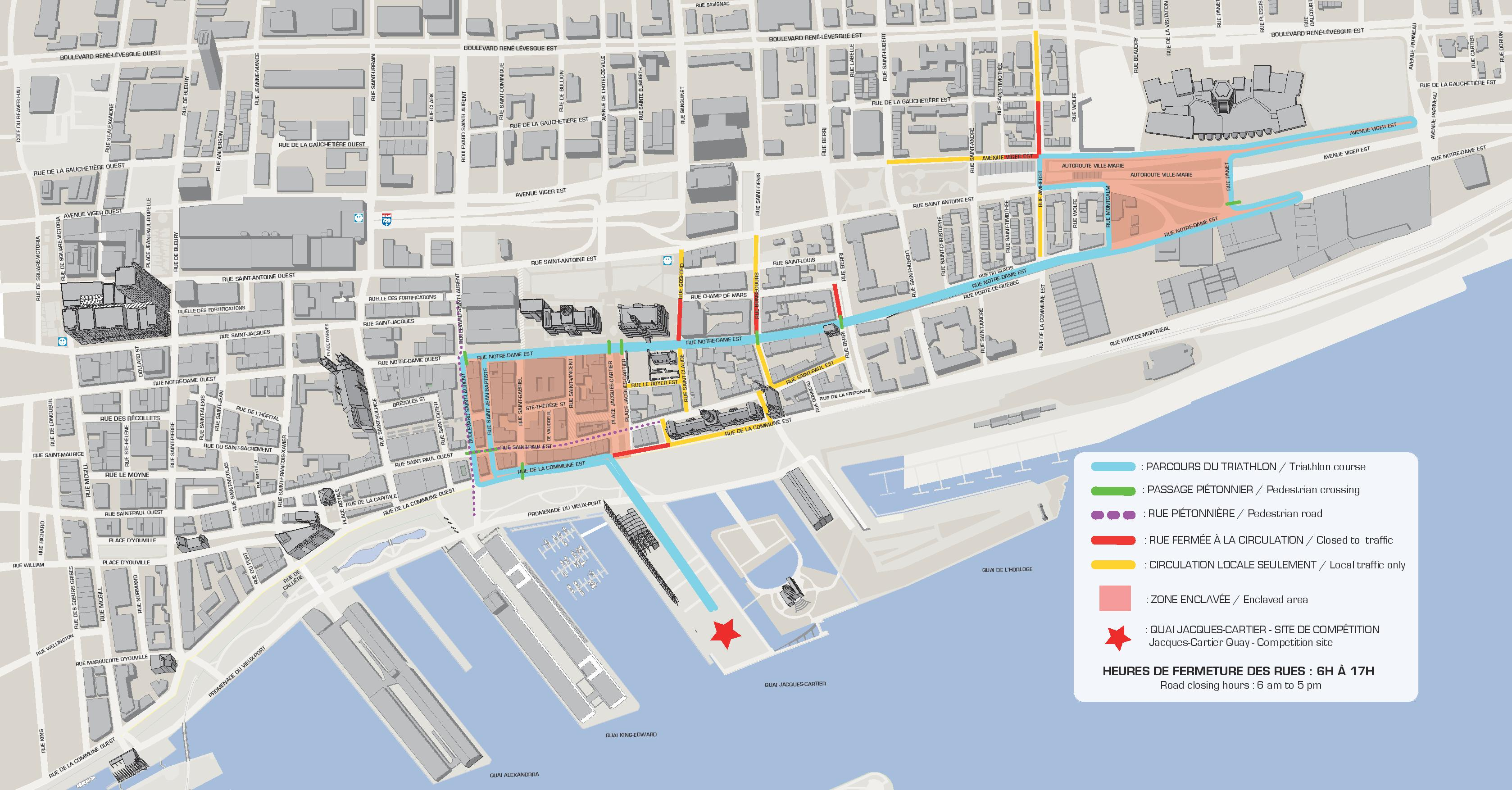 Access Old Montreal ITU World Triathlon Montreal - Old montreal map