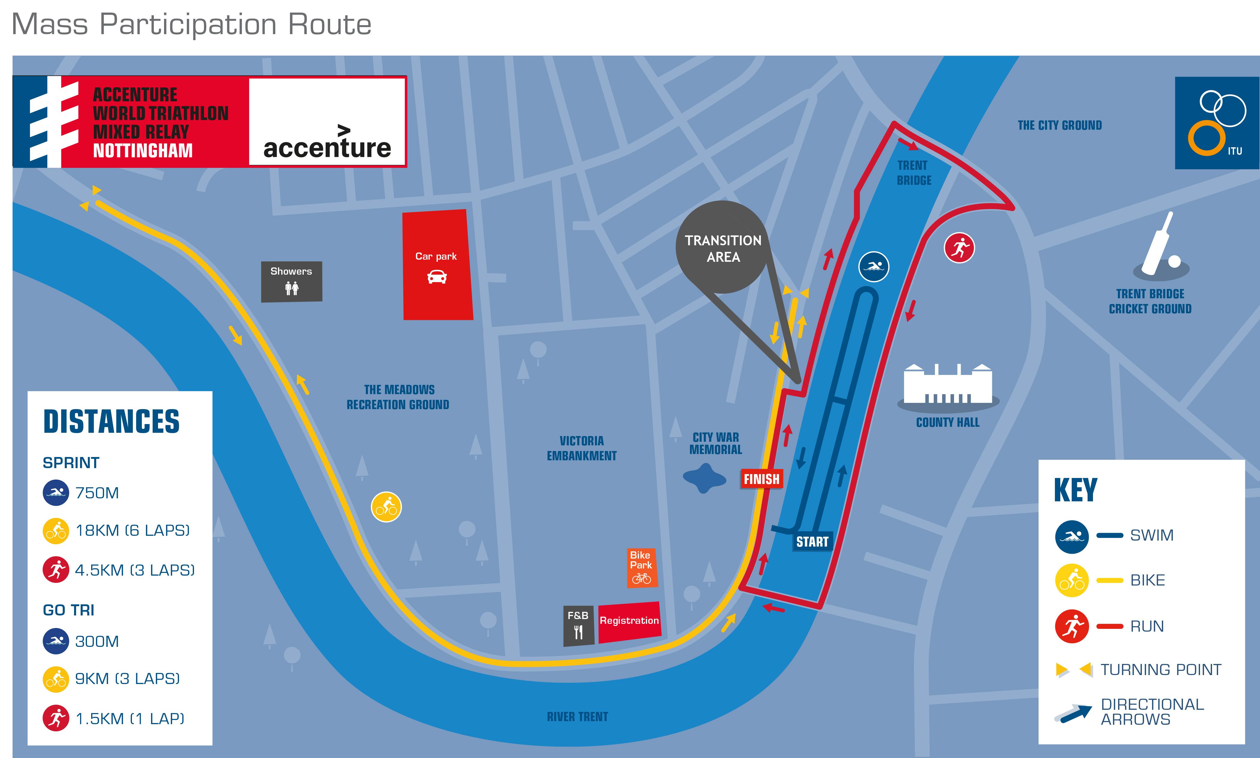 Course Maps - Accenture World Triathlon Mixed Relay Nottingham