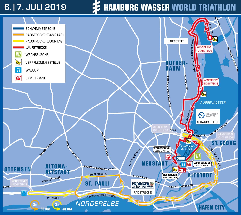 Strecke 2019 Hamburg Wasser World Triathlon
